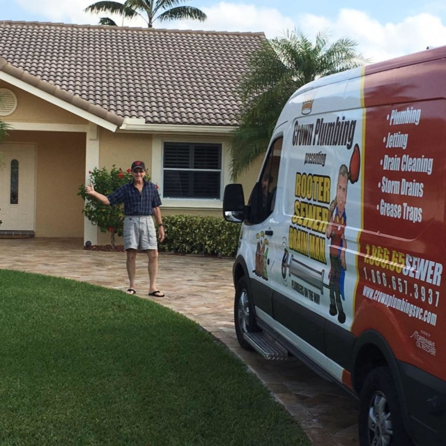 Our Vans are like Plumbing warehouses on wheels. We have most major plumbing parts and clogged drain cleaning equipment on board. We service Miami, Fort Lauderdale and the Palm Beaches.